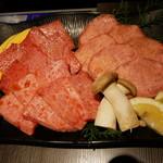 112594443 - 三松定食:特上塩タン、特上カルビ、特上ロース
