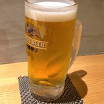shinjukugyoentempurakushiyamamotoya - 生ビール