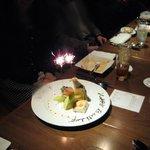 TREES イタリアン アンド バーラウンジ - サービスのバースデーケーキです!!