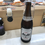 元禄寿司 - 2019年7月27日  瓶ビール(アサヒスーパードライ)