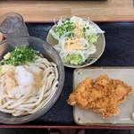 112609198 - おろしブッカケ(冷)大サイズ&七味味とり天&無料のサラダ