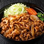 焼肉チャンピオン - 豚生姜焼き丼