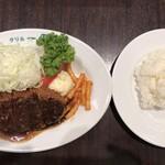 112615831 - ビーフカツ100gとライス(小) 1600円