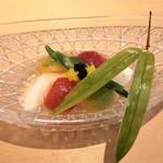 Kawaumekaisekisushi - 付出し 長芋ソーメン