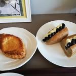 パトンキ - レモンパイ(税込210円)と黒豆クリーム(税込260円)