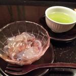 面 - 葛切り&煎茶