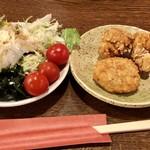 元気居酒屋 幸多 - サラダバーと食べ放題の唐揚げとコロッケ