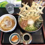 津田屋官兵衛  - ごぼうおろしぶっかけ 大盛り ミニカツ丼セット