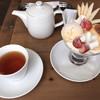 デリス アプリコ - 料理写真:プリンアラモードと紅茶