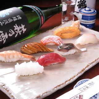 """系列店舗『うお屋』から新鮮な""""握り寿司""""も注文できちゃう!"""