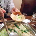 ふうり - スープ炊き餃子 取り分け