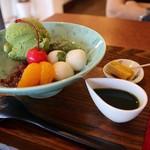 牛島製茶 和cafe Leaf Heart - 温かいほうじ茶&漬物がまたいい