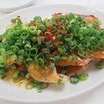 佐野サービスエリア 上り レストラン - ねぎ味噌餃子 580円
