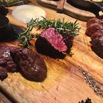 grilled beef winebar zuiji - 赤身肉二種、ラム