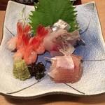のんちゃん - アジ、小鯛昆布〆、甘エビ