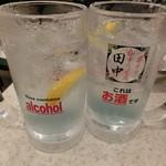 串カツ田中 - 田中のレモンサワー399円