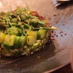 HOUSE - 栃木産グリーンアスパラのシトラスピクルス 枝豆、オクラ、キヌアのグリーンバクダン