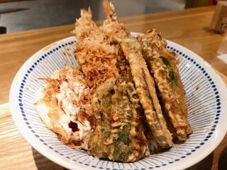 横濱蕎麦 傳介 - ◆上天丼 1,900 ◆御飯大盛り 100