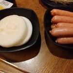 炭火焼肉処じゅうじゅう - タマネギ(一人前)とウインナー(二人前)