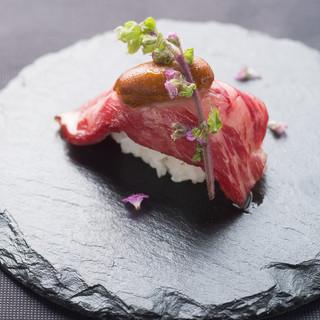 特選黒毛和牛の肉寿司をご堪能いただけるスペシャルコース