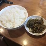 東園 - ランチご飯小100円! 高菜!