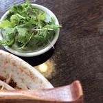 顧の店 刀削麺 - 追加のパクチー(香菜)