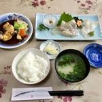 食事処マルタ活魚 - お刺身定食 1,080円