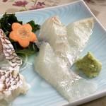 食事処マルタ活魚 - 【お刺身定食 1,080円】スズキの刺身