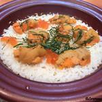 割烹せがわ - 料理写真:バフン海胆とムラサキ海胆といくらのごはん