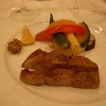 ラ カーサ ディ ナオ - 柿豚のグリル~ヴァポーレした野菜を添えて