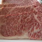 肉の斎藤 味斎 - 米沢牛のステーキです。