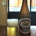 玉子焼 にし尾 - ドリンク写真:炎天下を長時間歩いた後のビールって最高ですね!(2019.8.1)