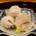 味享 - 熊本県天草産の鱧 焼き霜と落とし