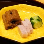 味享 - ご飯のお供  鰻の山椒煮、梅紫蘇山芋、胡瓜浅漬け
