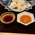 味享 - 山葵醤油と梅肉