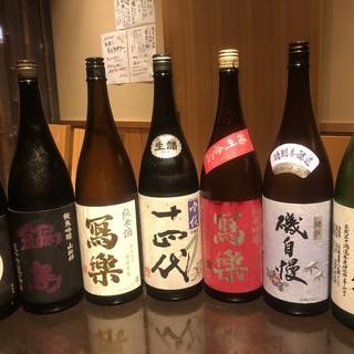 利酒師が選ぶ【特選銘酒】数十種!限定酒も取り揃えております。