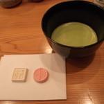 蕎麦処 なが田 - 薄茶と干菓子セット(食後なら¥250)