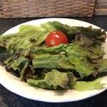 112722077 - 口コミには書いてないけど、サラダが付いてきます、葉野菜中心の平凡なサラダでした。