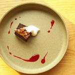 マルシ - セットのプチデザート(ガトーショコラ)