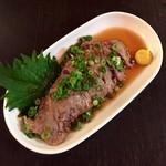 112723626 - マグロほほ肉炙り