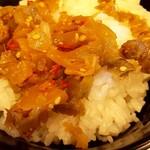 赤麺 梵天丸 - ザーサイ ON THE ライス