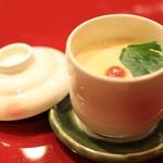 軍鶏と旨い酒 らっき - 軍鶏ダシの茶碗蒸し