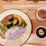 nori蔵 - 3色野菜のせカレー