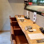 ROKU KANDA - 天然木のカウンター席