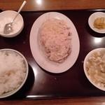 中国家庭料理 皆来 - 蒸し鶏のネギソースかけ