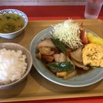 蘭風 - 料理写真:酢豚定食 650円