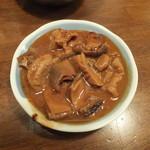 ホルモンの串焼き もつやき処 沼田 - 味噌煮込み