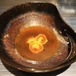 112746875 - トルティーニ イン ブロード。4種類のお肉から煮出したスープだが、ちょっと味が濃すぎたかな。