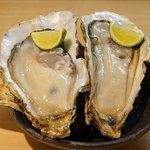 石臼挽き手打 蕎楽亭 - 昆布森産の生牡蠣