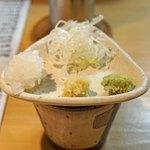 石臼挽き手打 蕎楽亭 - 十割そばとうどんのめおともりの薬味